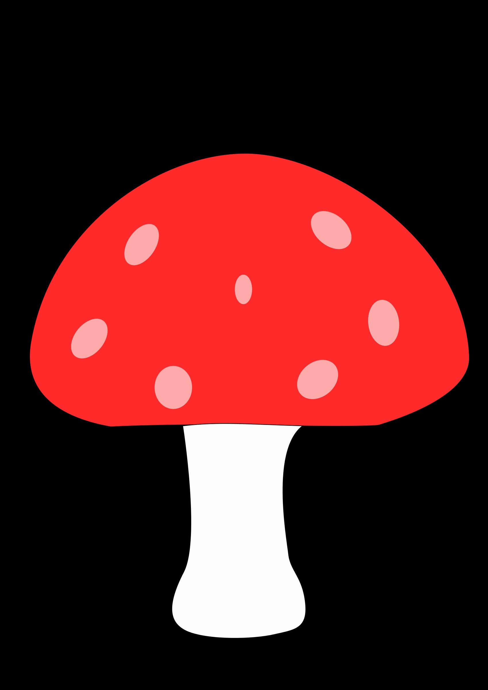Mushroom. Woodland clipart skunk