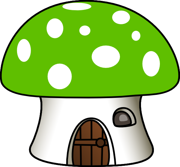 Green house clip art. Mushroom clipart mushroom home