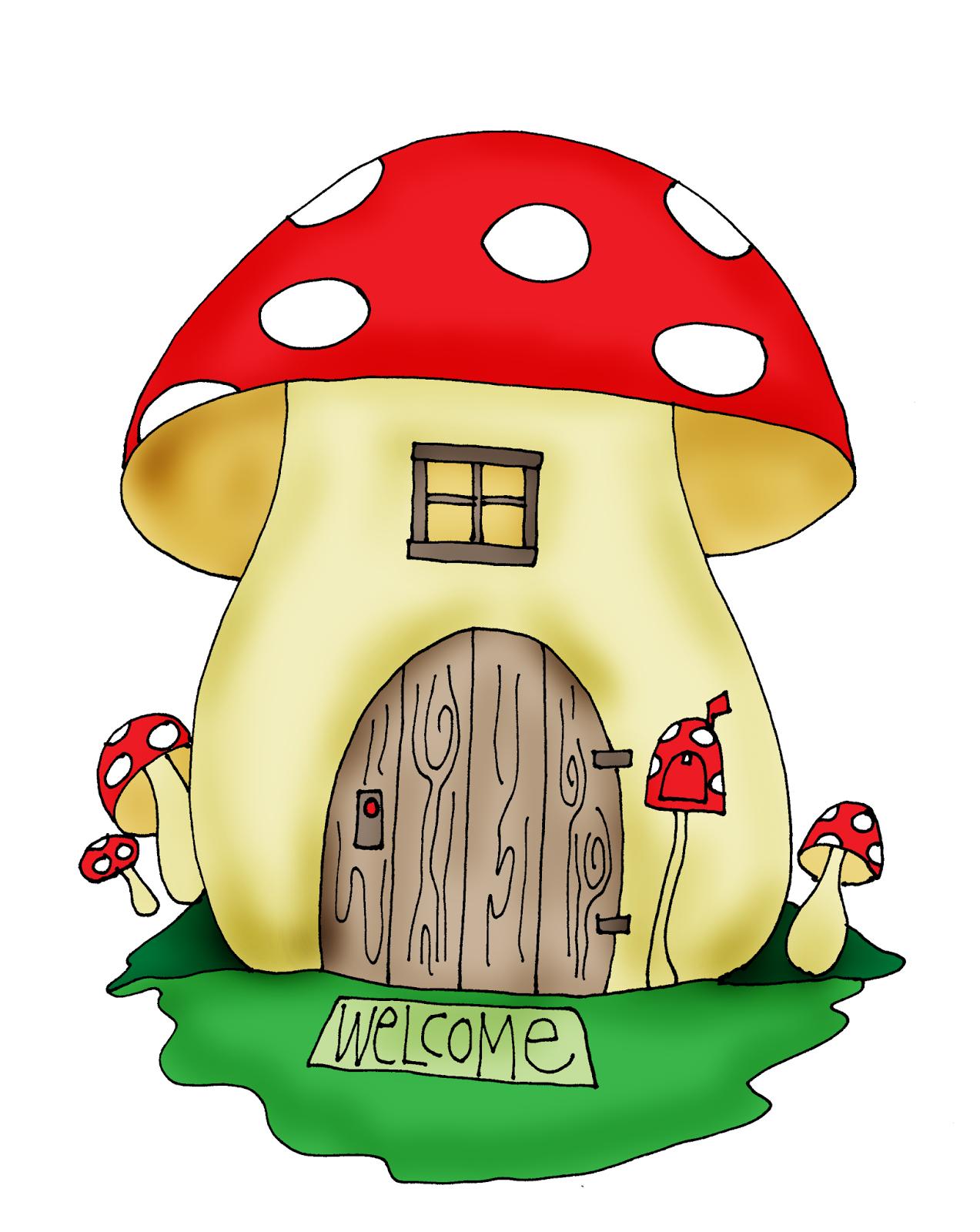 mushrooms clipart mushroom house