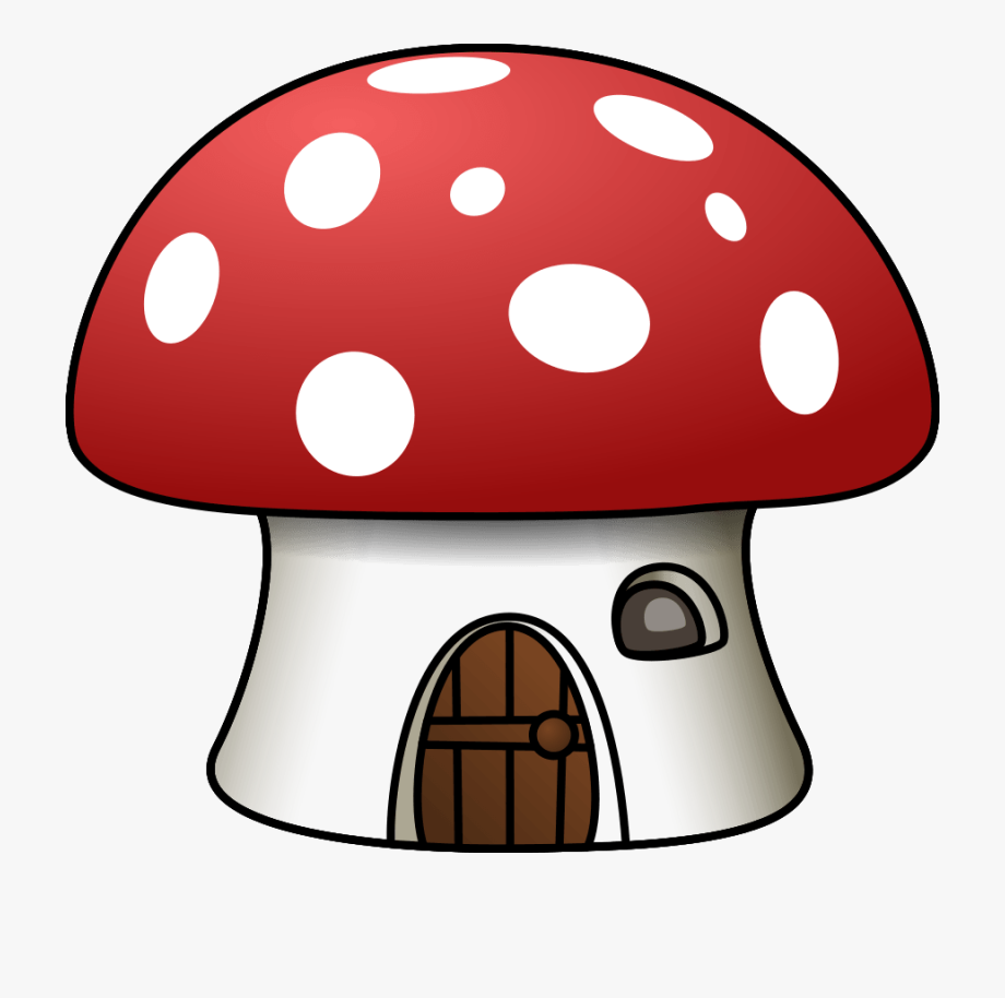 Mushrooms clipart eye. Mario mushroom house