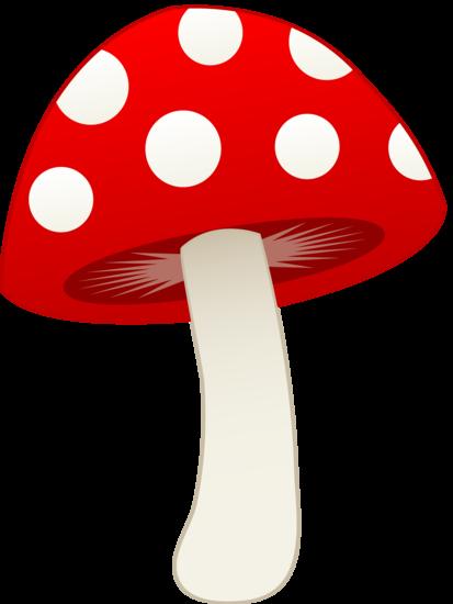 Mushrooms clipart kid. Red and white mushroom