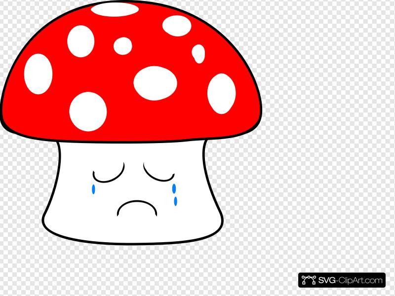 Mushrooms clipart sad. Mushroom clip art icon