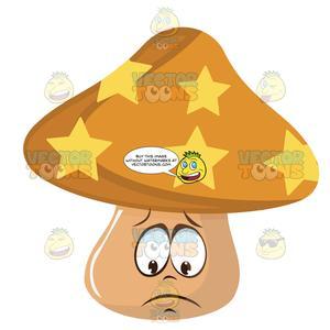 Mushrooms clipart sad. Orange and yellow star
