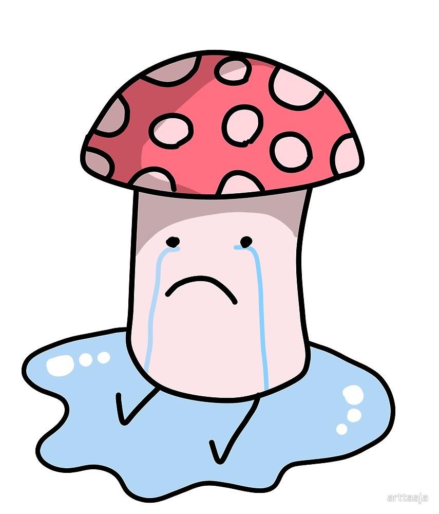 Mushroom by arttaaja redbubble. Mushrooms clipart sad