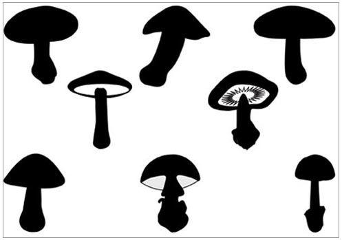 Mushrooms clipart silhouette. Fairy mushroom clip art