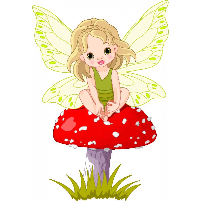 Mushroom clipart tinkerbell. Forest fairy stickers children