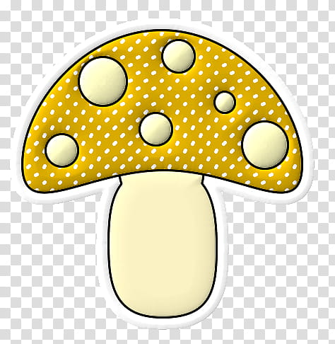 Mushroom clipart yellow mushroom. Transparent background png
