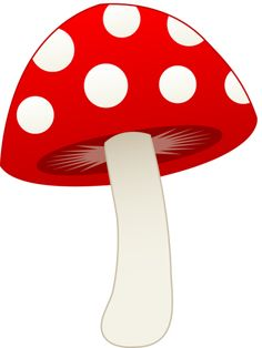 Cute cartoon pictures toadstool. Mushroom clipart