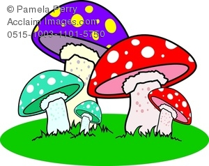 Mushrooms clipart. Clip art illustration of