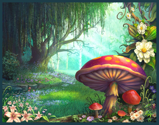 Mushrooms clipart enchanted forest. Cliparts zone