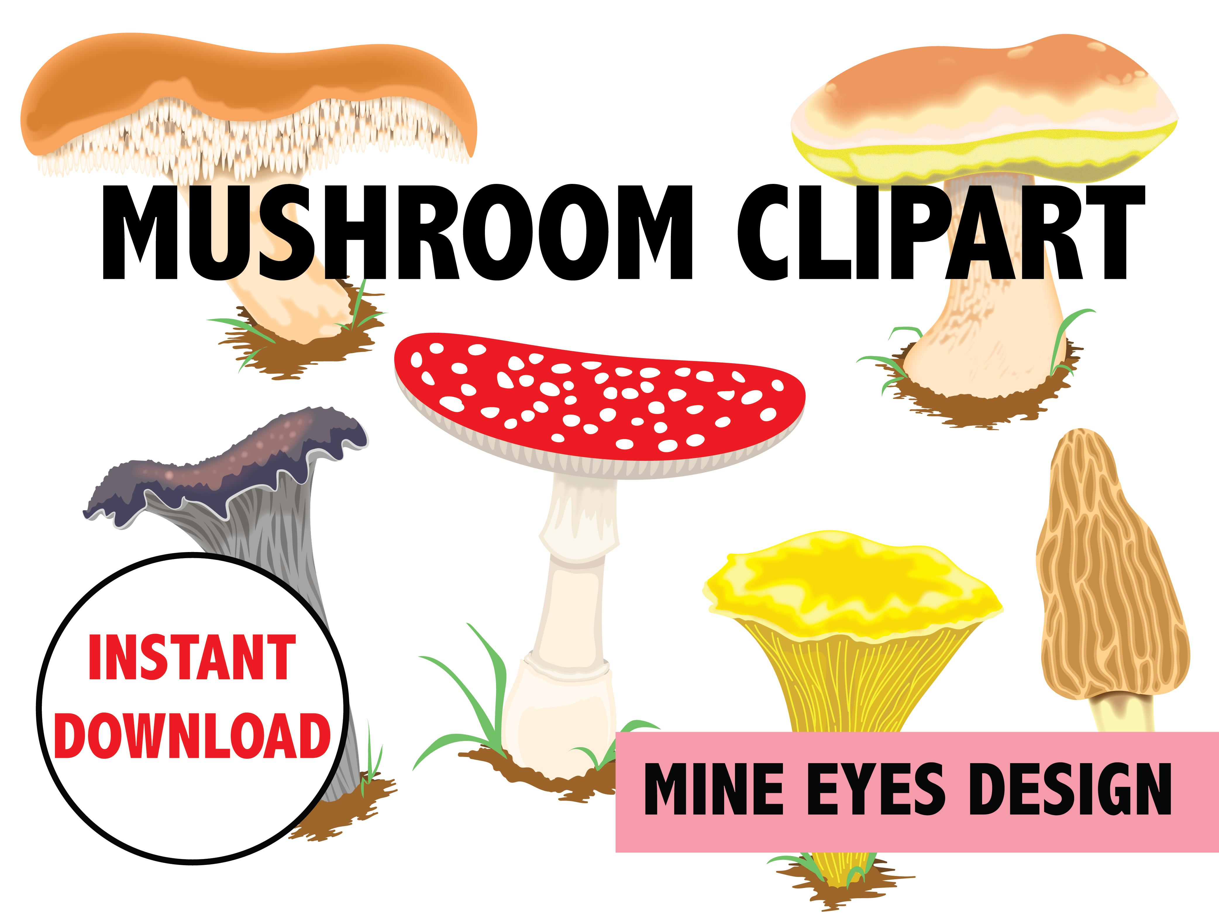 Mushrooms clipart eye. Mushroom