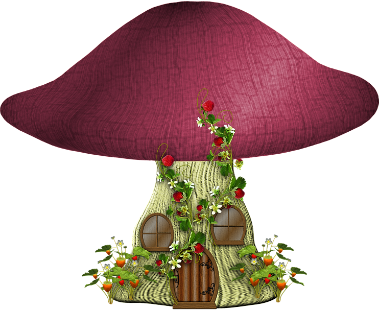 Tp shroomcottage png and. Mushrooms clipart fairy village