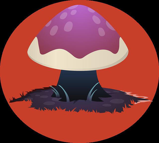 Psychedelic mushroom skin pink. Mushrooms clipart mush