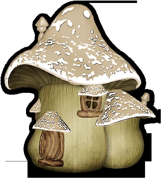 Douce nuit and fairy. Mushrooms clipart mushroom house