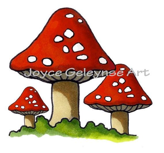 Clip art hand drawn. Mushrooms clipart printable