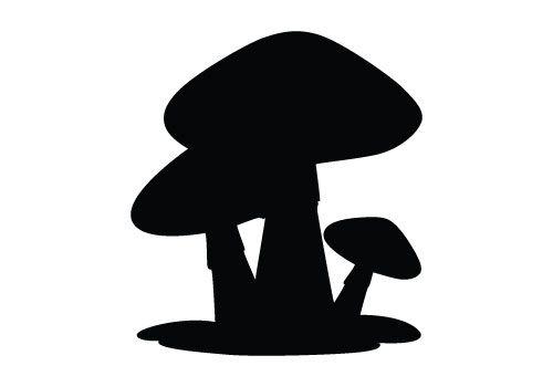 Mushrooms clipart silhouette. Sliced mushroom free download