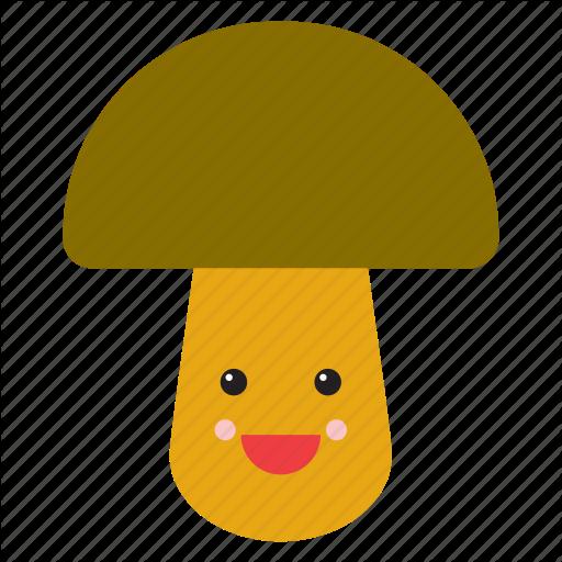 Mushrooms clipart smiley face.  fruits vegetables emojis
