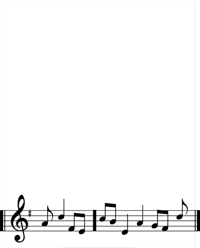 Note picture frame goodpict. Music border png