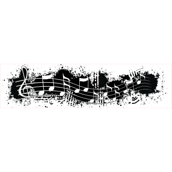 Music border png. Borders grunge note stamp