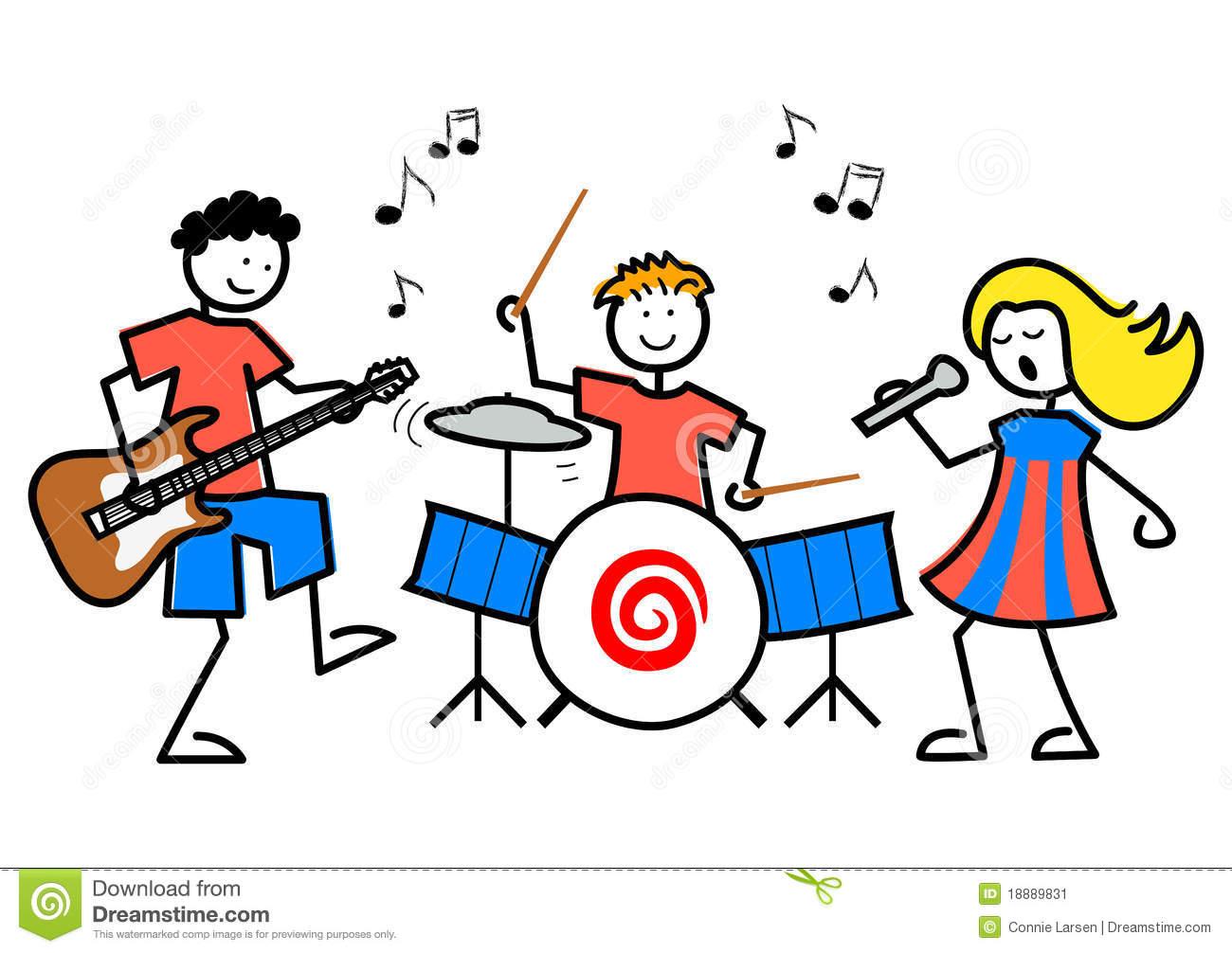 Free cartoon music download. Musician clipart school play