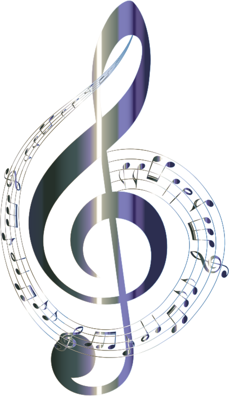 Lacquered musical notes typography. Music clipart clear background