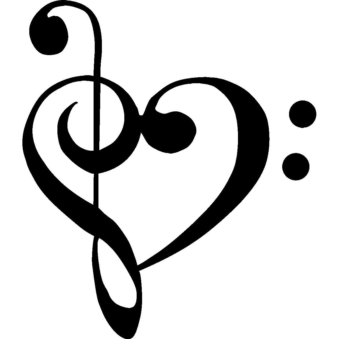 Notes clip art panda. Music clipart heart