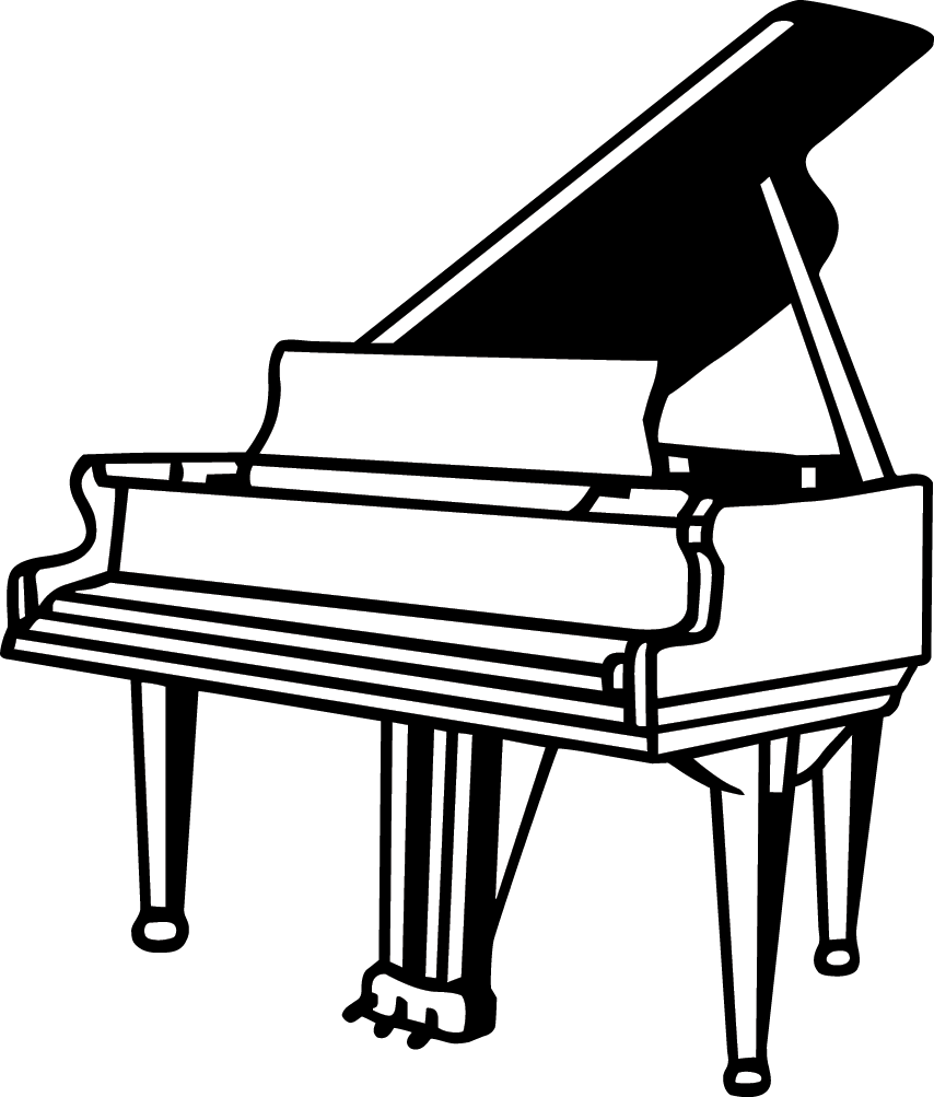 Piano clipart triangle. Music