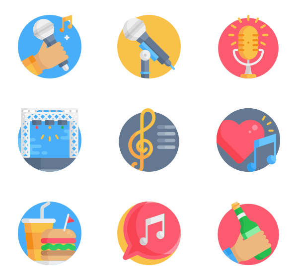 Music clipart music festival. Event icons free vector