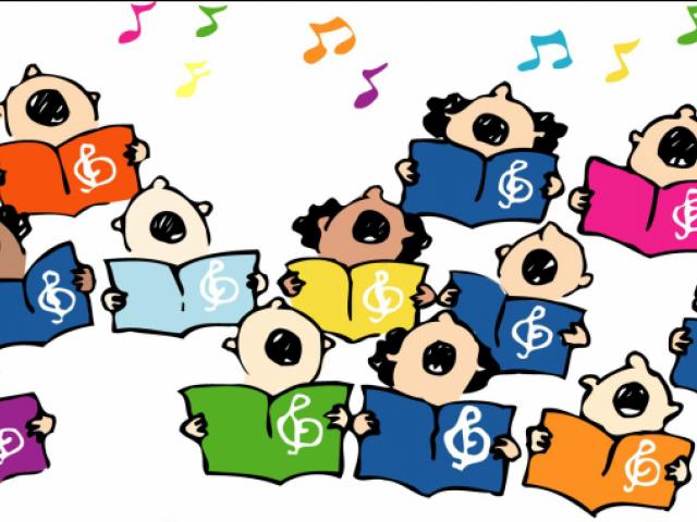 music program huge. Singer clipart elementary chorus
