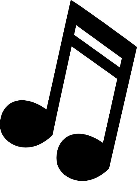 Note clip art images. Music clipart silhouette