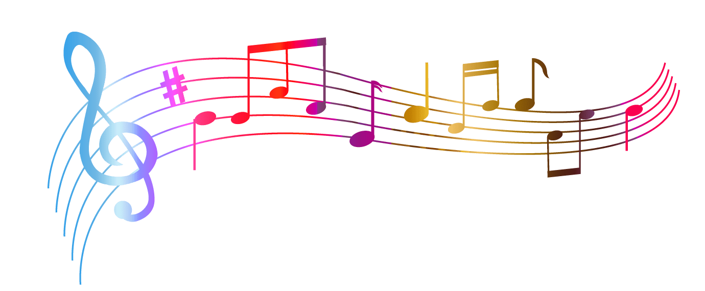 Notes colourful transparent stickpng. Music png images