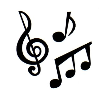 Musical clipart. Music notes panda free