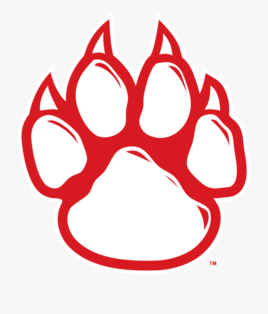 Bobcat jaguar paw high. Wildcat clipart school spirit