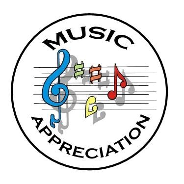 Musical clipart music appreciation. Badge quest clubs