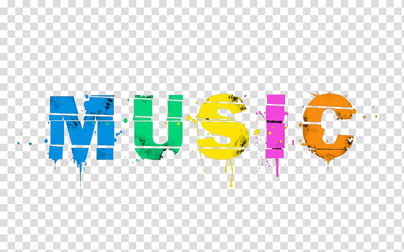 Multicolored text of pop. Musical clipart music history
