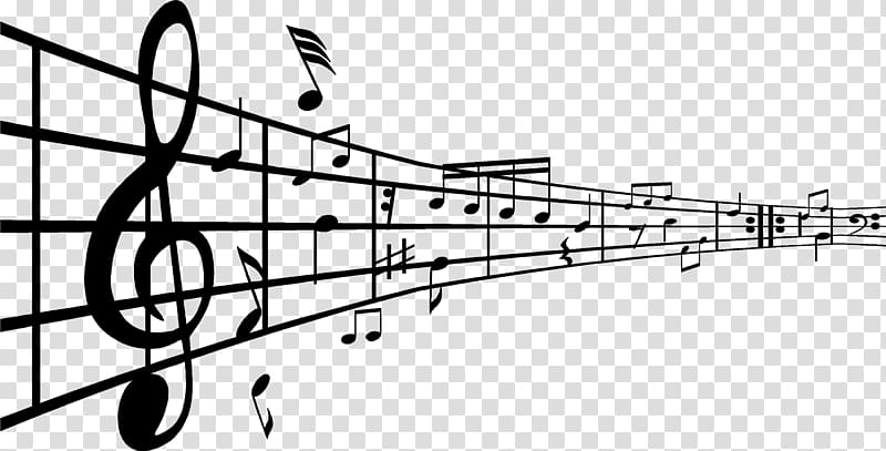 Black notes art note. Musical clipart music theory