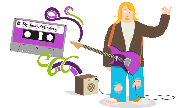 Get hands on project. Musician clipart music practice