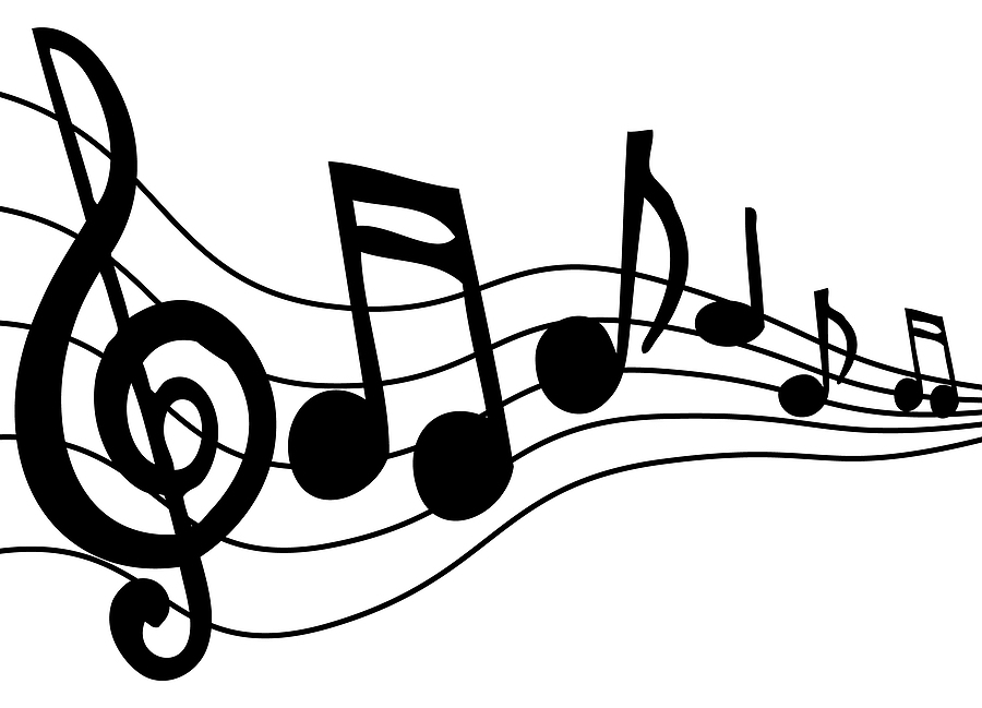 Note clipart singing. Musical notes clip art