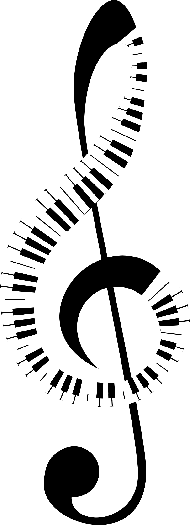 Clef keyboard recreation no. Piano clipart abstract
