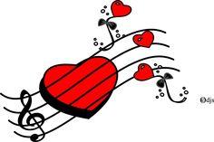 musical clipart valentine