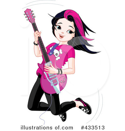 Musician clipart. Illustration by pushkin royaltyfree
