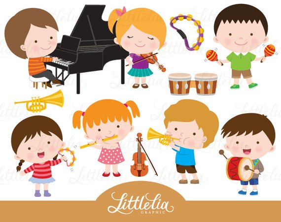 Music class from littleliagraphic. Musician clipart