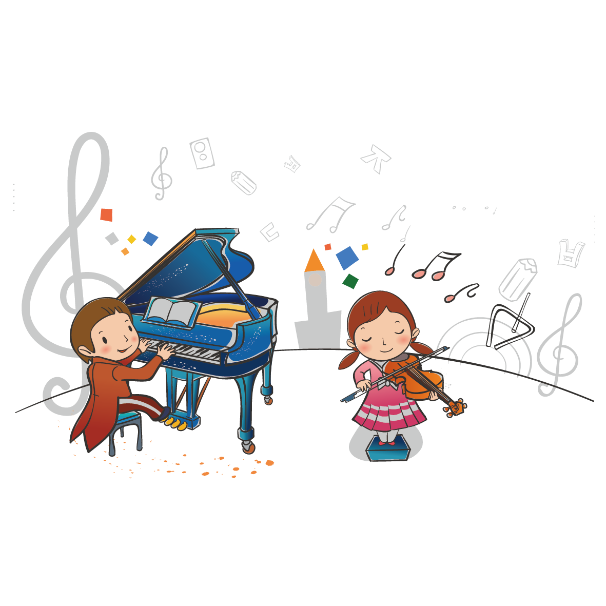 Musician clipart children's. Piano cartoon music child