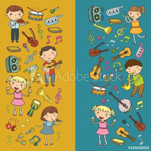 Musician clipart kindergarten music. School for kids vector