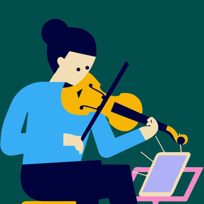 Musician clipart music practice. Features metronaut app for