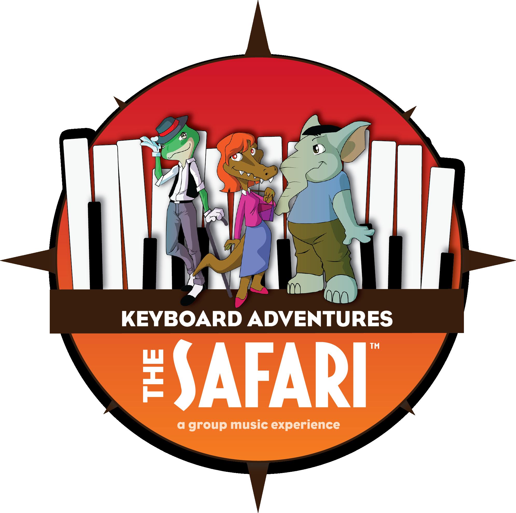 Keyboard adventures the safari. Musician clipart music program
