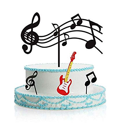 Notes cupcake toppers acrylic. Musician clipart music theme