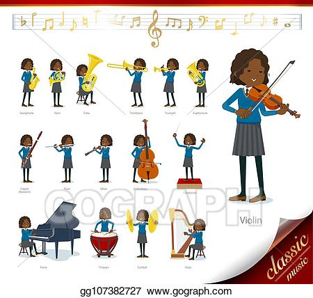 Eps vector flat type. Musician clipart school play