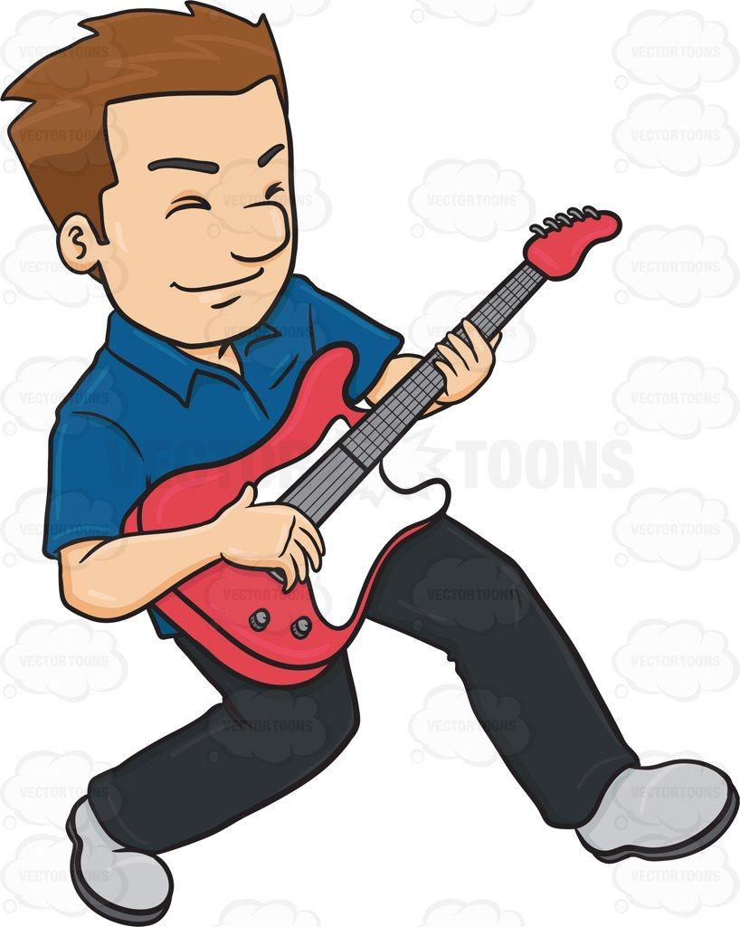 Musician clipart solo. A man enjoying his