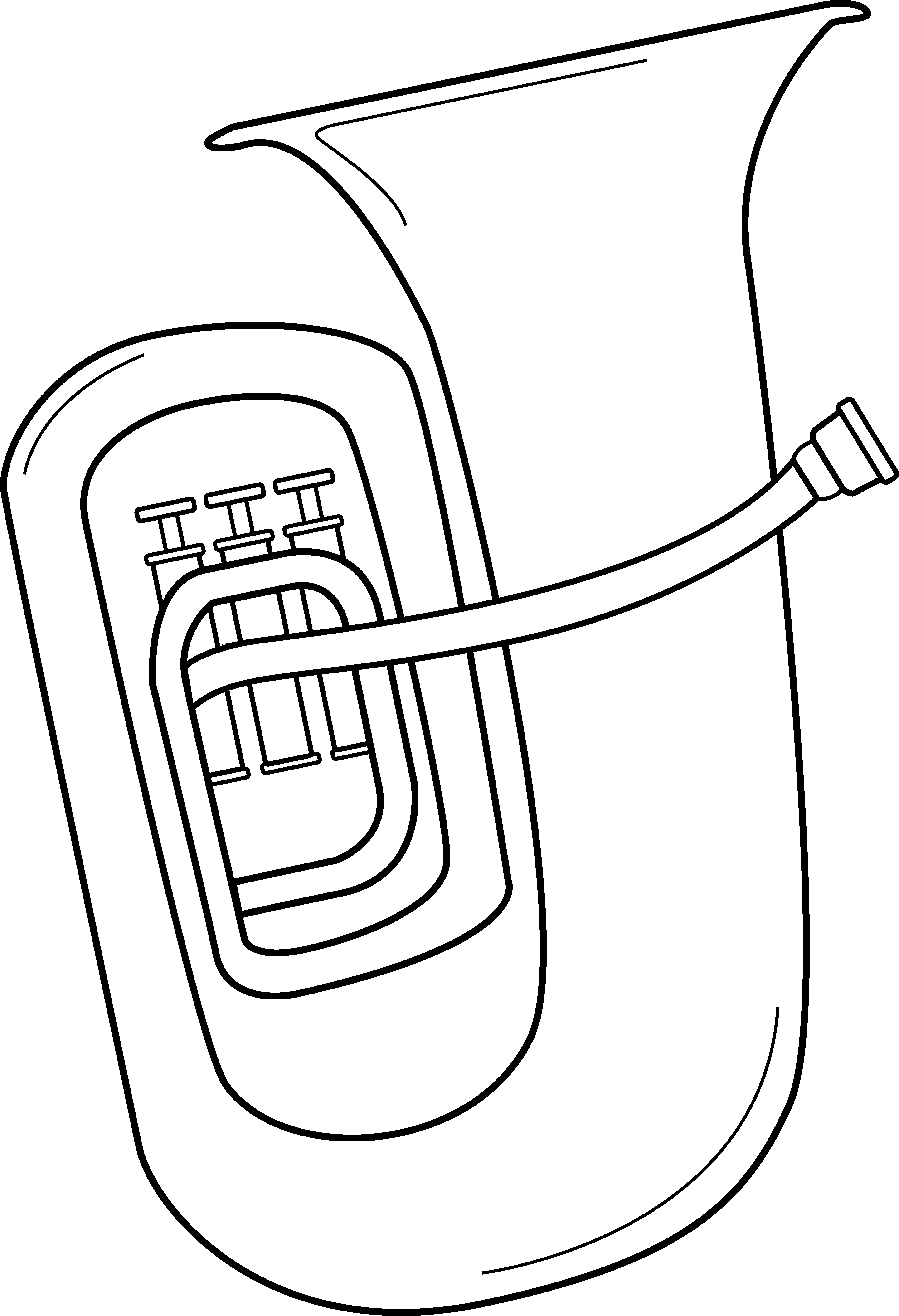 Musician clipart tuba player. Coloring page eskayalitim